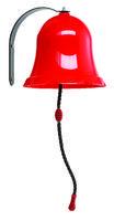 Zvon kovový červený/modrý vč. kování