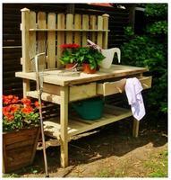 Stolek zahradní pracovní se zásuvkami a vertikální