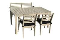 Stůl obdélníkový CHESTERFIELD II AKÁCIE  sv. šedá