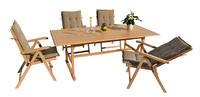 stůl obdélníkový pevný SANTIAGO oak wash NOVINKA 2