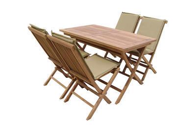 Židle skládací s polstrem BRISBANE TGF 001 TEAK