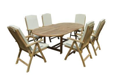 Stůl oválný rozkládací MELBOURNE TGF055 TEAK