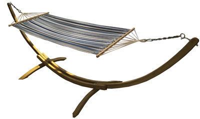 Houpačka s textilií - námořnická barva (modrá, bíl