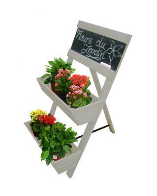 Stojan na květiny 2-patrový s tabulí NOVINKA 2017