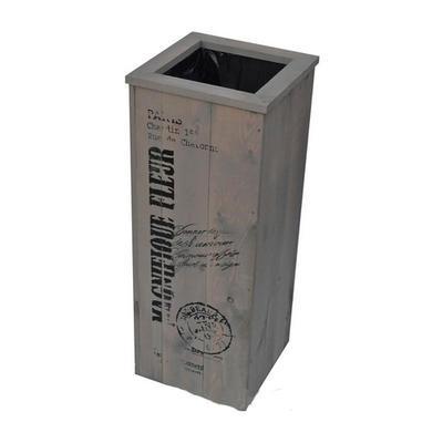KVĚTINÁČ 300x300x800 mm s nápisem barva šedá - 1