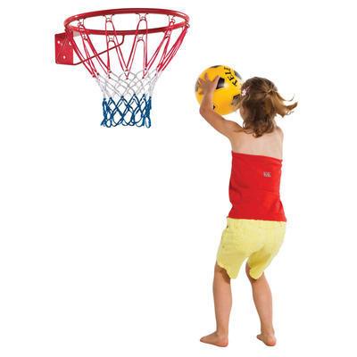 Koš basketbalový (kovový kruh červený + síť) - 1