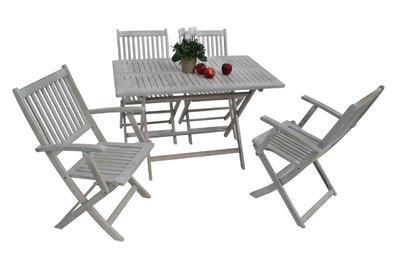 stůl obdélníkový skládací SOFIA grey wash NOVINKA  - 1