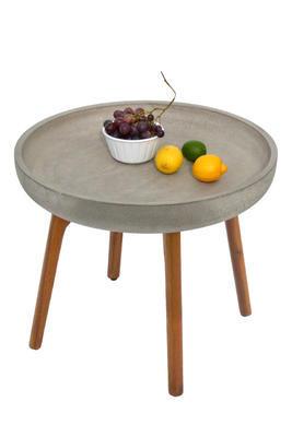 odkládací stolek LAURA světle šedá velký NOVINKA 2