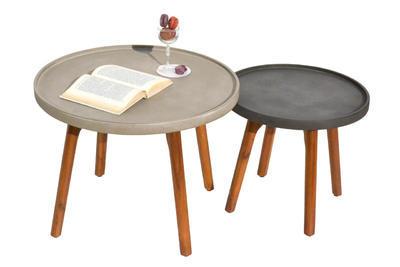odkládací stolek MIRA světle šedá malý NOVINKA 201