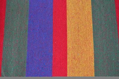 Houpačka s textilií - barevné pruhy (červená, žlut - 2