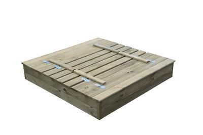 PAULINA pískoviště 140x140cm s poklopem a lavičkam - 2