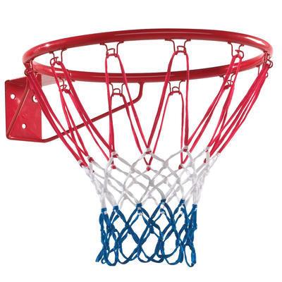 Koš basketbalový (kovový kruh červený + síť) - 2