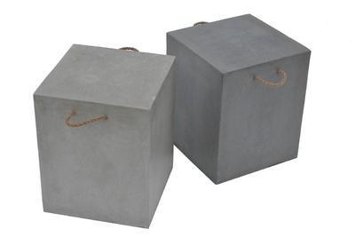 Stolička ADAM tmavě šedá 360x360x440 - 2